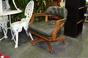 Sale 7987A - Lot 1163 - Button Back Leather Upholstered Chair