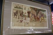 Sale 8134A - Lot 66 - Albert Ludovici (1820 - 1894) After. - Changing Horses -The Epsom Coach at the Bell Inn 36.5 x 73cm