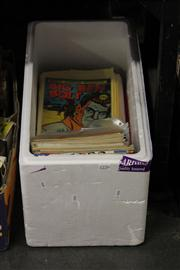 Sale 8169 - Lot 2226 - Box of Comics incl. Mad, The West Coast Avengers, Gambit, Big Ben Bolt, Darkhawk, Bloodlines, etc