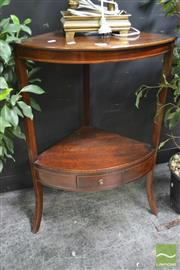 Sale 8299 - Lot 1005 - Inlaid Mahogany Corner Stand
