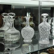 Sale 8369 - Lot 42 - Cut Crystal Decanters With A Krosno Example (3)