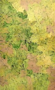 Sale 8647 - Lot 593 - Margaret Scobie (c1948 - ) - Bush Medicine Leaves 151 x 92cm (stretched and ready to hang)