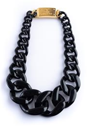 Sale 8550F - Lot 93 - A Prada black plastic graduated curblink necklace.