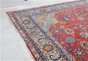Sale 8782A - Lot 132 - A pre-war Tabriz Carpet with central medallion on a red ground ex: Caspian oriental carpets, Chatswood. 280 x 380cm