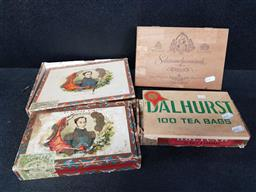 Sale 9254 - Lot 2422 - Collection of cuban cigar boxes & others