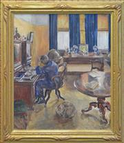 Sale 8257A - Lot 19 - Mary K. Smyth (XIX - XX) - Interior 60 x 50cm