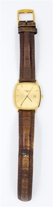 Sale 8265 - Lot 340 - LONGINES AND URAL GENTS WRISTWATCHES; Longines with cushion shape golden dial, centre seconds, date aperture, on an  L.236.2 base E...