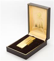 Sale 8265 - Lot 337 - A BOXED DUNHILL LIGHTER; with square engine turned pattern.
