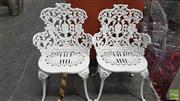 Sale 8404 - Lot 1078 - Pair of Cast Iron Outdoor Chairs