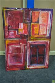 Sale 8592 - Lot 2054 - Segal - Abstract, Acrylic