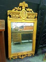 Sale 8648 - Lot 1005 - Carved Gilt Framed Bevelled Edge Mirror (H: 118 W: 60cm)