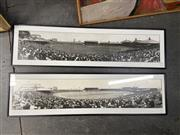 Sale 9069 - Lot 2093 - A Pair of reproduction panoramic photographs of England vs Australia test match 1928 from Melba studios, frame: 34 x 123 cm,