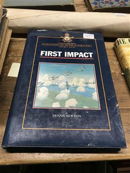 Sale 9101 - Lot 2279 - Newton, Dennis First Impact: Combat Diary Series Australians in the Air War of World War II, vol. 1, 1939-40, pub. Banner Books, 1997