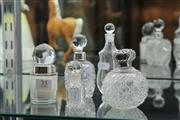 Sale 8340 - Lot 35 - English Hallmarked Sterling Silver Lidded Perfume Bottle With Others (5)