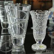 Sale 8369 - Lot 24 - Waterford Cut Crystal Vase with A Contemporary Stuart Example