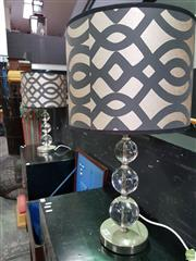 Sale 8570 - Lot 1004 - Pair of Glass table Lamps