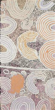 Sale 8741A - Lot 52 - Naata Nungurrayi (1932 - ) - Womens Ceremony, 2001 91 x 46cm