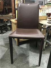 Sale 8787 - Lot 1057 - Set of 5 Leather Clad Dining Chairs