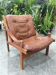 Sale 8967 - Lot 1010 - Hunter Chair with Low Back by Torbjorn Afdal (H:78 W:64)