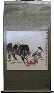 Sale 8004 - Lot 34 - Chinese Bull Herder Scroll