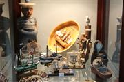 Sale 8379 - Lot 148 - Model Ship In Light Globe with Other Nautical Themed Wares Incl Bookends