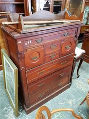 Sale 8728 - Lot 1079 - Late 19th Century Cedar Chest of Drawers by Anthony Horden, with an array of eight drawers & carved fascia