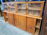 Sale 8740 - Lot 1116 - Art Deco Display Cabinet with Glass Doors and Cabinet Base