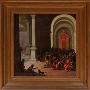 Sale 8804A - Lot 16 - Artist Unkown, Possibly C18th - Christ Presented Before Pontius Pilate