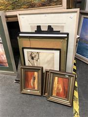 Sale 8811 - Lot 2076 - Group of Assorted Artworks, including original paintings, decorative prints and watercolours, various sizes