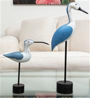 Sale 8990H - Lot 8 - A pair of graduated wading birds, taller 50cm