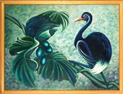 Sale 9053 - Lot 2030 - Ronald Chambers - Tropical Bird & Berries 90.5 x 120.5 cm (frame: 110 x 130 x 3 cm)