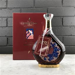 Sale 9102 - Lot 509 - Courvoisier Collection Erte No.7 - La Part Des Anges Limited Edition Extra Cognac - 40% ABV, in 24ct gold detailed decanter, 750ml i.