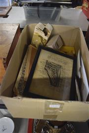 Sale 8189 - Lot 2132 - Box of Early Photos And Football Cards