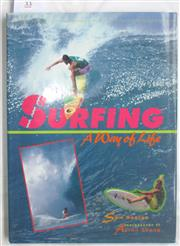 Sale 8431B - Lot 33 - Sam George. Surfing, A Way of Life. Mallard Press 1990. Hardback with dustwrapper, 128 pages