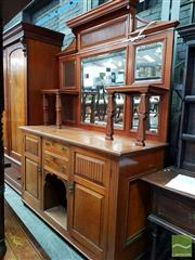 Sale 8485 - Lot 1075A - Late 19th Century Cedar Sideboard, with multiple mirror back & shelves, with another shelf below, two drawers & two doors