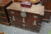 Sale 8500 - Lot 1072 - Korean Pine and Elm Storage Chest, the Hinged Front Revealing Drawers
