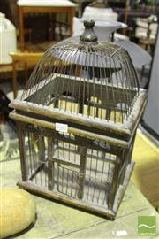 Sale 8499 - Lot 1083 - Small Timber Birdcage