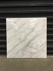 Sale 8550K - Lot 107 - Chocolatiers Square White Marble Board, 70 x 70cm