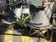 Sale 8801 - Lot 1536 - Pair of Reproduction Butterfly Chairs