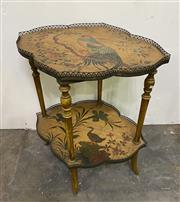 Sale 8972H - Lot 15 - Antique French brass gallery side table c1880-1910, Height 92cm x Width 1.17m x Depth 73cm