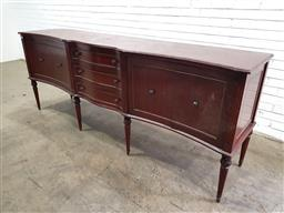 Sale 9151 - Lot 1347 - Timber elevated sideboard with 4 central drawers (h:97 w:252 d:58cm)