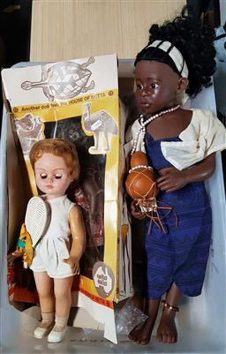 Sale 9176 - Lot 2241 - Box of dolls incl. West German and Australian makes