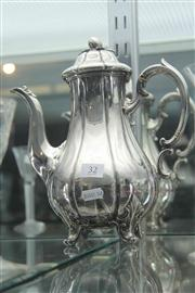 Sale 8032 - Lot 32 - Early Victorian Silver Plated Coffee Pot with Marks for Edward Barnard & Sons