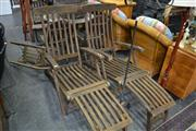 Sale 8066 - Lot 1039 - Pair of Timber Sun Lounges
