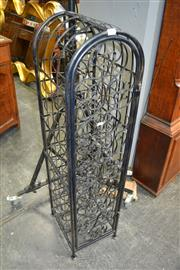 Sale 8115 - Lot 1435 - Metal 33 Bottle Wine Rack incl. Magnum Holder