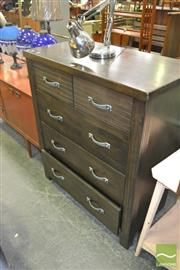 Sale 8257 - Lot 1028 - Chest of Five Drawers