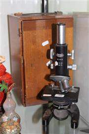 Sale 8261 - Lot 99 - Cased Microscope
