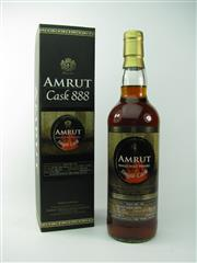 Sale 8329 - Lot 522 - 1x Amrut Distilleries Cask 888 Single Cask Single Malt Indian Whisky - limited edition no. 1/120, bottled 12/2015, 62.8% ABV, 700m...
