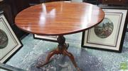 Sale 8375 - Lot 1033 - Late C19th Georgian-Style Mahogany Wine Table, with tilt-top on pedestal base