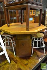 Sale 8499 - Lot 1601 - Octagonal Timber Coffee Table